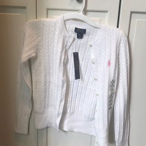 Polo Ralph Lauren girls cable knit sweater